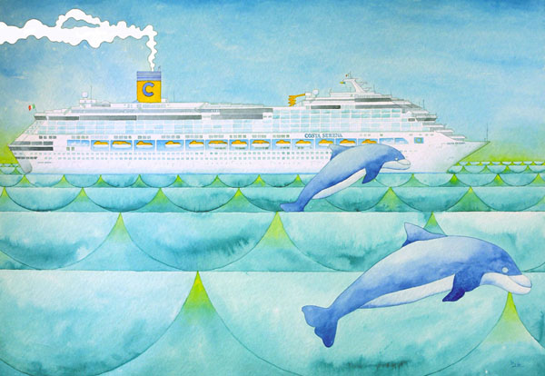 Costa Serena, on a journey with the dolphins - 2007